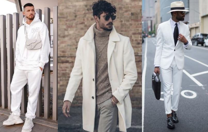 χειμωνιάτικα αντρικά ντυσίματα σε λευκό χρώμα