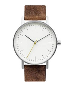 Bijouone Minimalist Leather and Stainless Steel Watch
