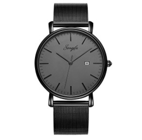 SONGDU Slim Quartz Analog Watch
