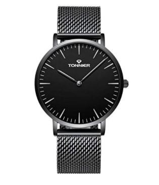 Tonnier Stainless Steel Slim Fit Watch