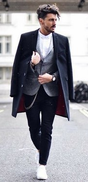 μαυρο με γκρι ανδρικο ντυσιμο