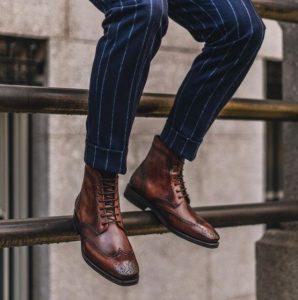 καφέ παπούτσια brogues
