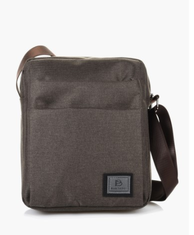 καφέ χιαστί αντρική τσάντα