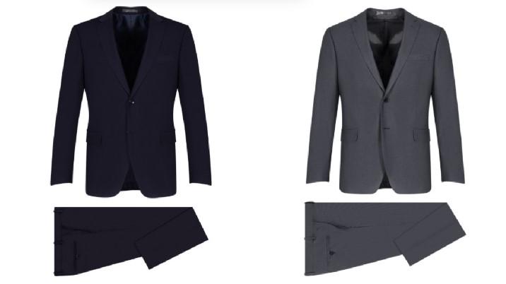 κοστούμι γκρι μπλε