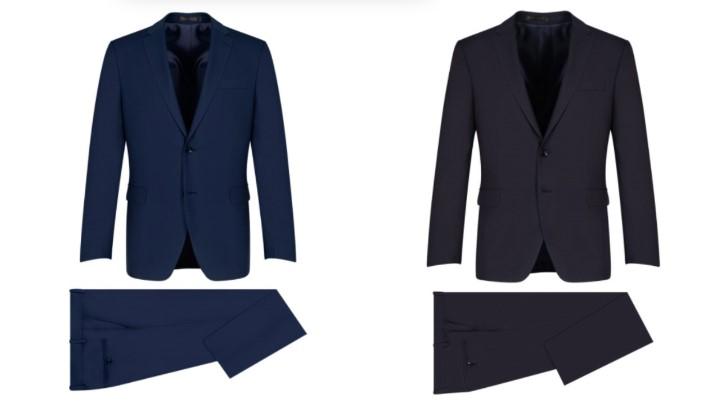 κοστούμι μπλε γκρι