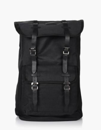 μαύρη τσάντα πλάτης με λουριά