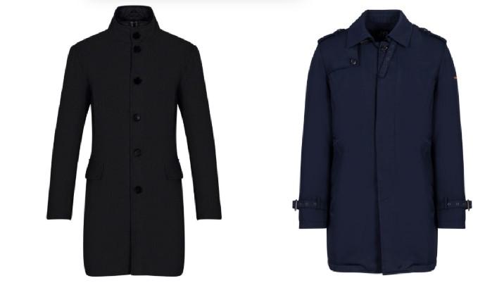 μαύρο παλτό μπλε καπαρντίνα