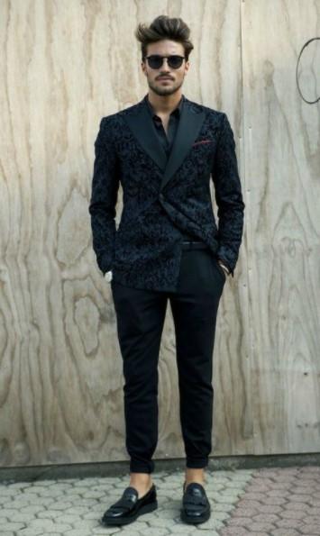 μαύρο σακάκι παντελόνι μαύρο μοντέρνα ρούχα