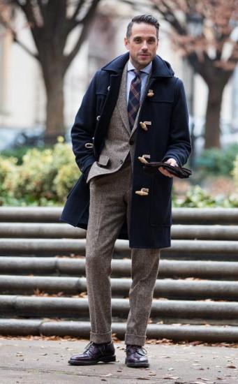 μπλε μοντγκόμερι κοστούμι