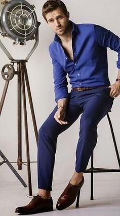 μπλε ρουα πουκαμισο
