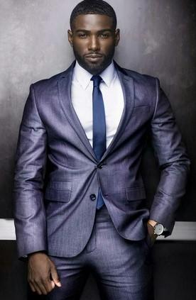 μπλε μοβ κοστουμι