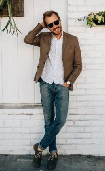 τζιν παντελόνι πουκάμισο σακάκι