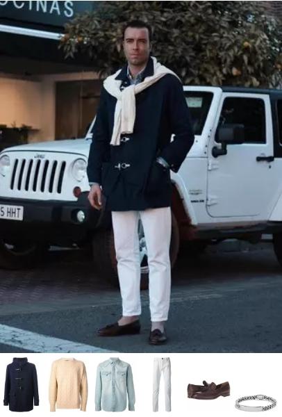 ανδρικό χειμερινό outfit με παλτό