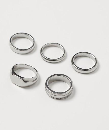 ασημένια αντρικά δαχτυλίδια