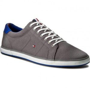 γκρι sneakers άσπρα κορδόνια ανδρικά παπούτσια όλες ώρες