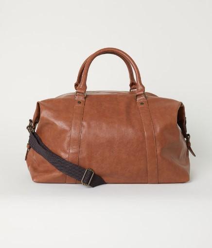 καφέ αντρική τσάντα