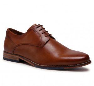 καφέ δερμάτινα ανδρικά παπούτσια