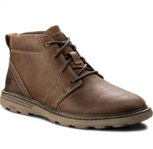 καφέ δερμάτινο μποτάκι ανδρικά παπούτσια όλες ώρες
