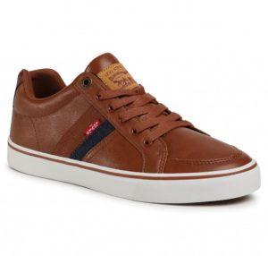 καφέ δερμάτινο sneakers