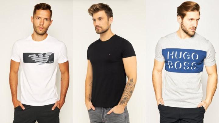 κοντομάνικα T-shirts άσπρο μαύρο γκρι T-shirt polo μπλουζάκια