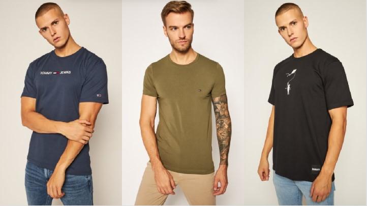 κοντομάνικα t-shirts μπλε χακί μαύρο T-shirt polo μπλουζάκια