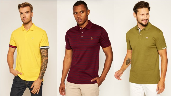 κοντομάνικες πόλο κίτρινη πράσινη μπορντό T-shirt polo μπλουζάκια