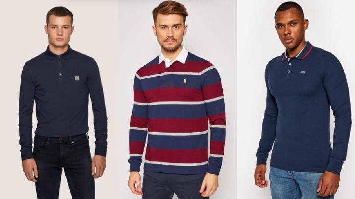 μακριμάνικες πόλο ριγέ μπλε T-shirt polo μπλουζάκια