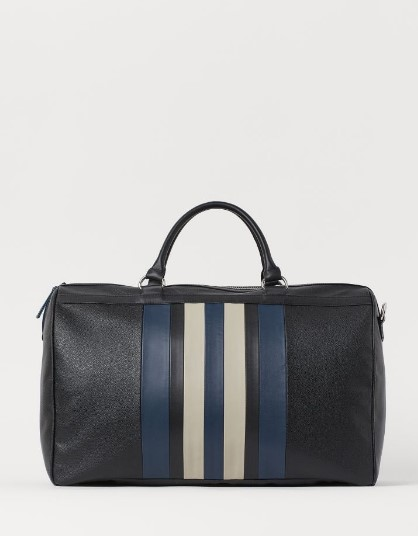 μαύρη τσάντα με ρίγες