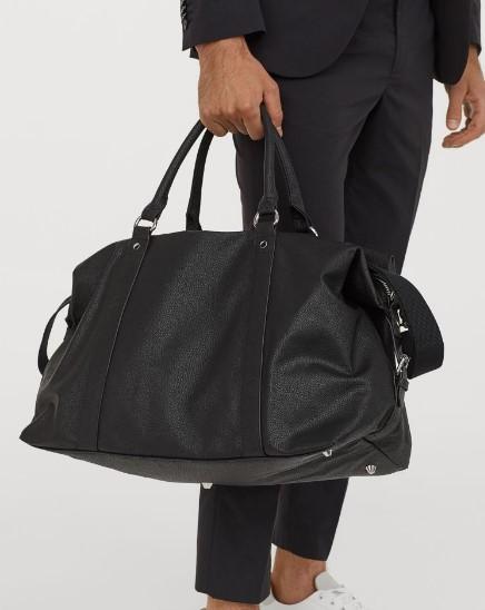μαύρη αντρική τσάντα