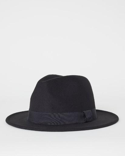 μαύρο αντρικό καπέλο