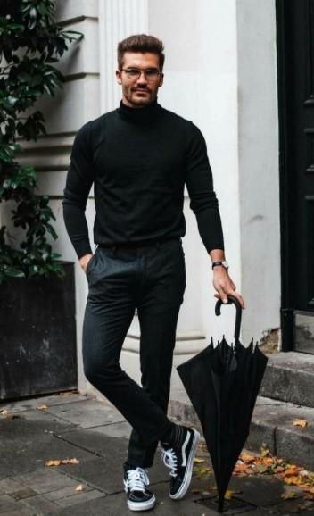 μαύρο ζιβάγκο μαύρο παντελόνι
