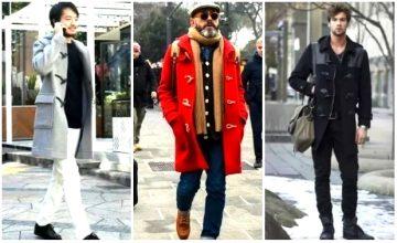 ντύσιμο με ανδρικό μοντγκόμερι παλτό