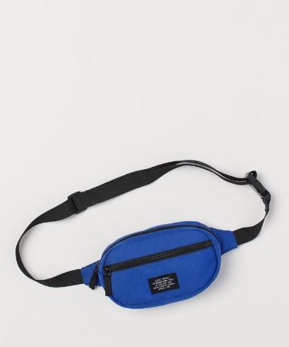 οβάλ μπλε αντρικό τσαντάκι μέσης