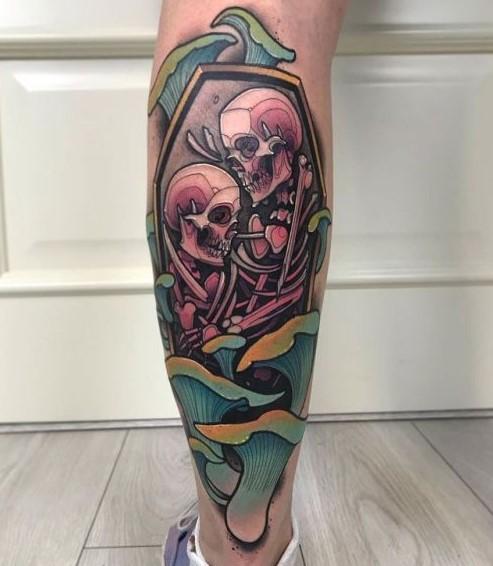 τατουάζ σκελετοί με χρώματα