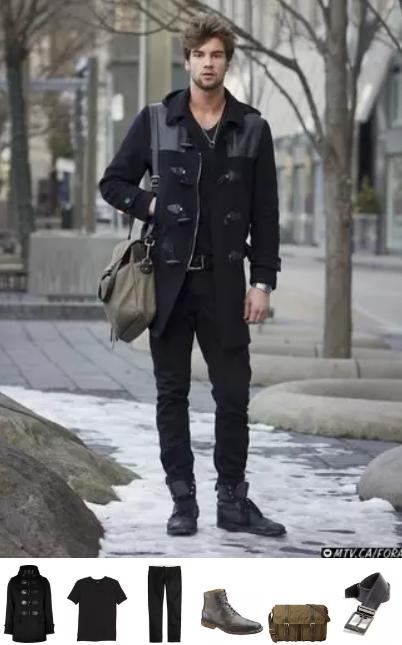 total black αντρικό ντύσιμο