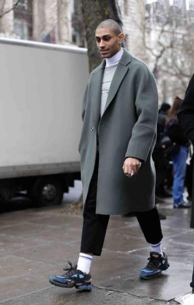 γκρι χειμωνιάτικο παλτό