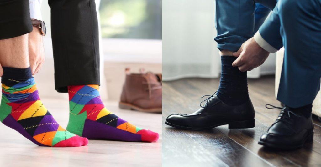 Πολύχρωμες και μονόχρωμες κάλτσες