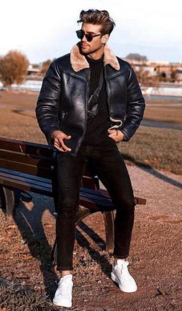 μαύρο ανδρικό ντύσιμο