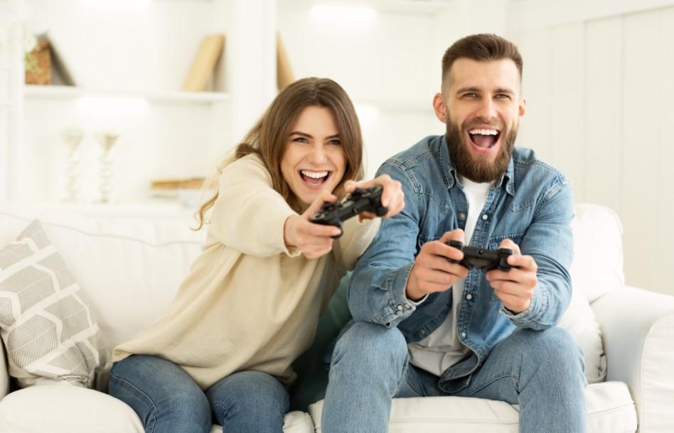 ζευγάρι παίζει παιχνίδι