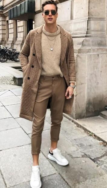 ανδρικό ντύσιμο με παλτό