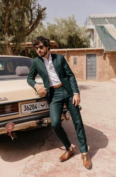 πράσινο ανδρικό κουστούμι