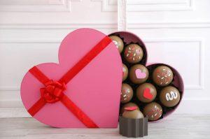 κουτί καρδιά σοκολατάκια