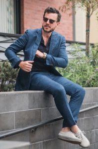 λινο παντελονι κουστουμι
