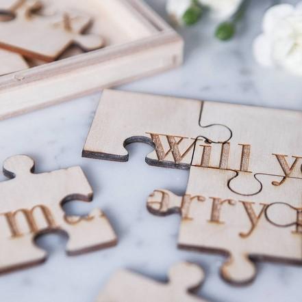παζλ με μηνυμα για γαμο