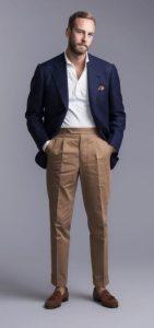 πλισέ παντελόνι με σακάκι