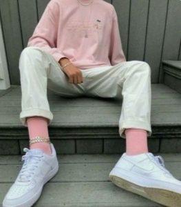 ροζ καλτσες