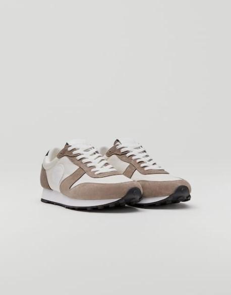 άσπρα μπεζ sneakers