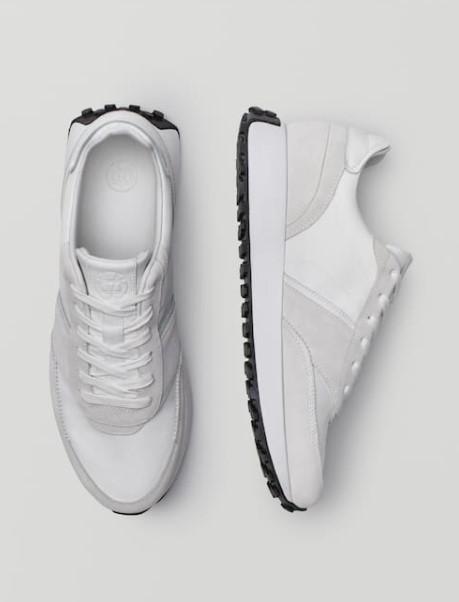 άσπρα sneakers Massimo Dutti καλοκαίρι 2021