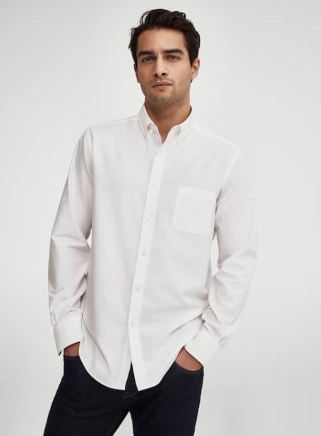άσπρο πουκάμισο κλασικό Massimo Dutti καλοκαίρι 2021