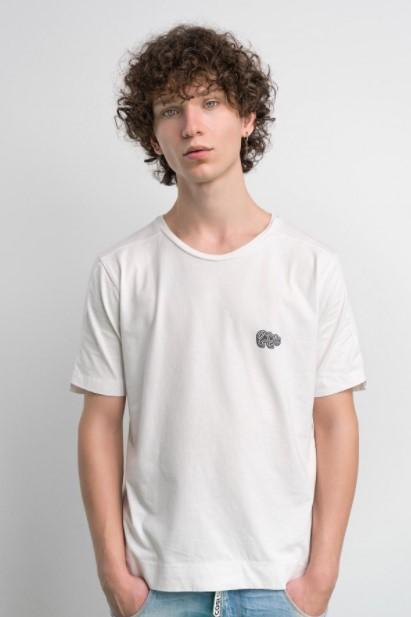 άσπρο T-shirt Cosi jeans άνοιξη- καλοκαίρι 2021